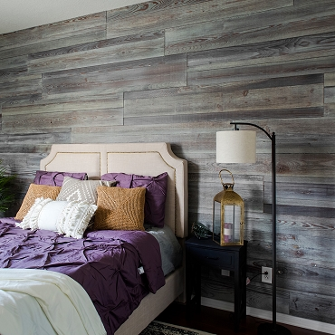 Rustic Barnwood Reclaimed Wood Look Solid Wood Wall Boards 27.22 sq ft - $10.98 per sq ft
